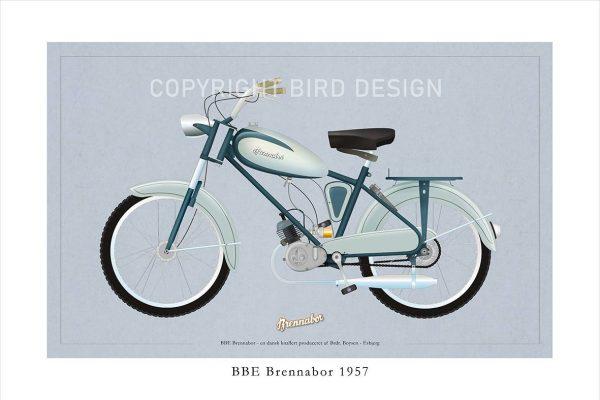 BBE Brennabor 1957 plakat med knallert