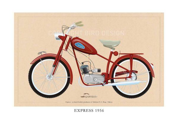 Express 1956 plakat med knallert