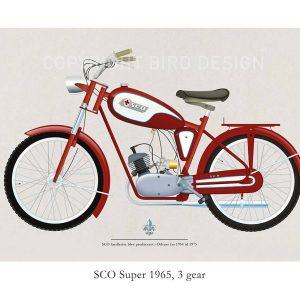 SCO Super 1965 plakat med knallert